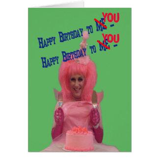 Algodão de Miz do feliz aniversario Cartão