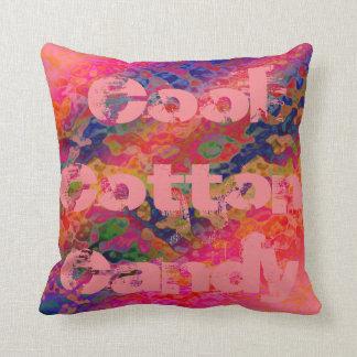 Algodão doce legal travesseiro de decoração