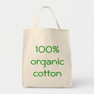 algodão orgânico de 100% sacola tote de mercado