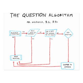 Algoritmo da pergunta cartão postal