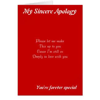 Alguém cartões especiais da desculpa