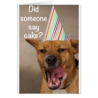 Alguém disse endurece? Cartão de aniversário