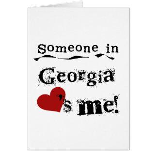 Alguém em Geórgia ama-me Cartão Comemorativo
