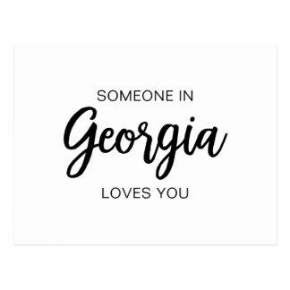 Alguém em Geórgia ama-o - cartão
