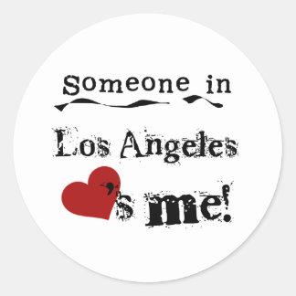 Alguém em Los Angeles Adesivo Redondo