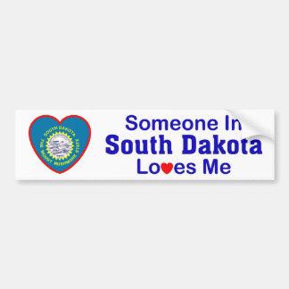 Alguém em South Dakota ama-me Adesivo Para Carro