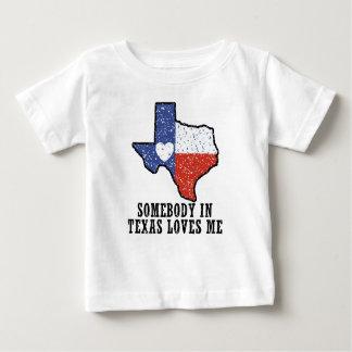 Alguém em Texas ama-me Camiseta Para Bebê