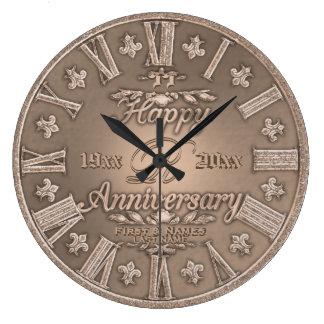 Algum aniversário de casamento do olhar do cobre relógios para pendurar