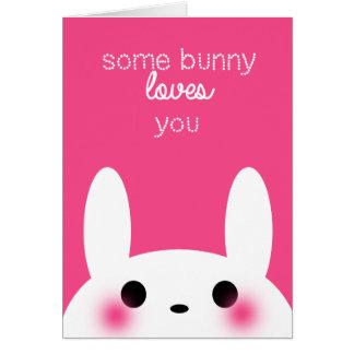 Algum coelho ama-o cartão do dia dos namorados