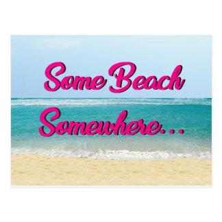 Algum da praia cartão em algum lugar