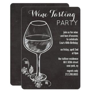 ALGUM EVENTO - convite do vidro de vinho do giz