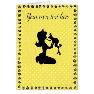 Alguma princesa cartão do sapo da ocasião