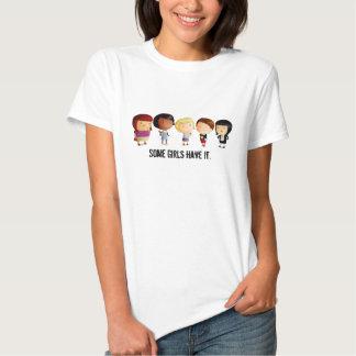 Algumas meninas da subcultura t-shirt