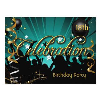 Alguns adolescentes ou adultos da celebração da convite 13.97 x 19.05cm