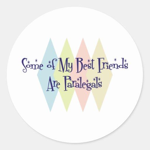 Alguns de meus melhores amigos são Paralegals Adesivos Redondos
