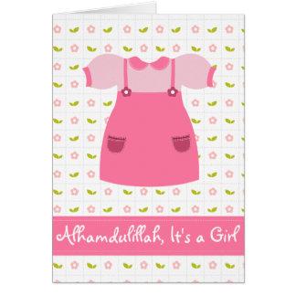 Alhamdulillah é um cartão recém-nascido da menina