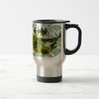 Alho e azeite infundido erva caneca térmica