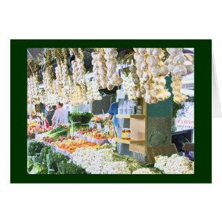 Alho no mercado da garra de Jean Cartão Comemorativo