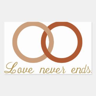 Alianças de casamento adesivo retangular
