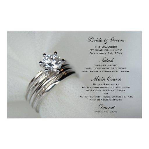 Alianças de casamento que Wedding o menu Papel Personalizado