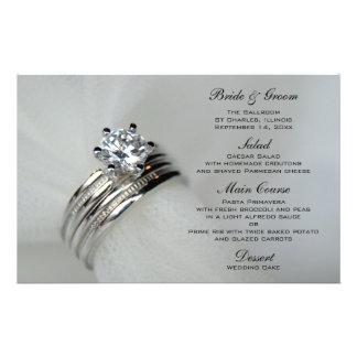 Alianças de casamento que Wedding o menu Papelaria