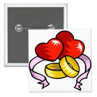 Alianças de casamento sob o coração bóton quadrado 5.08cm