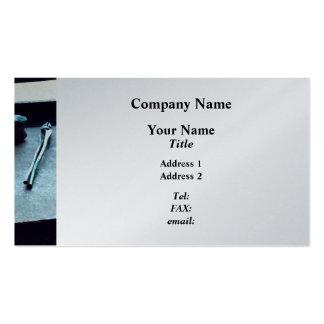 Alicates e malho - revestimento da platina cartao de visita