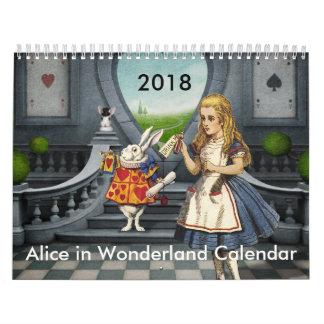 Alice 2018 no calendário do país das maravilhas