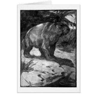 Alice B. Woodward: Cartão da arte de Diprotodon