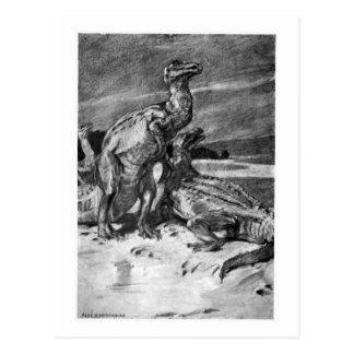 Alice B. Woodward: Cartão da arte de Iguanodonts