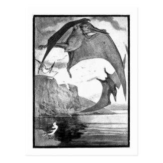 Alice B. Woodward: Cartão da arte de Pteranodon