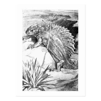 Alice B. Woodward: Cartão da arte do Edaphosaurus