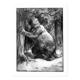 Alice B. Woodward: Cartão da arte do Megatherium