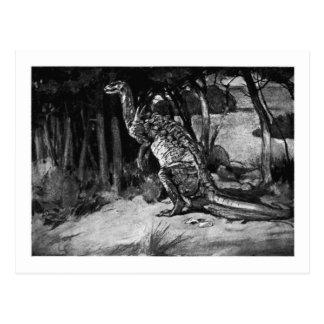 Alice B. Woodward: Cartão da arte do Scelidosaurus
