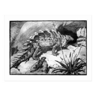 Alice B. Woodward: Cartão da arte do Stegosaurus