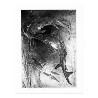 Alice B. Woodward: Cartão da arte dos Ichthyosaurs
