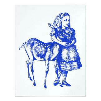 Alice com oferta do baile de formatura da jovem convite 10.79 x 13.97cm