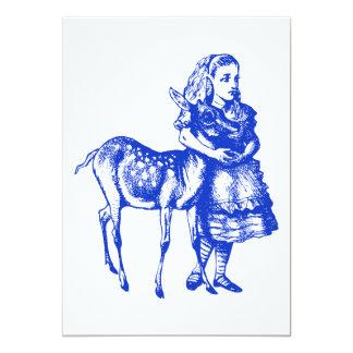 Alice com oferta do baile de formatura da jovem convite 12.7 x 17.78cm