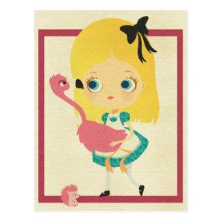 Alice e o cartão do flamingo