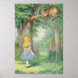 Alice e o gato de Cheshire Posteres
