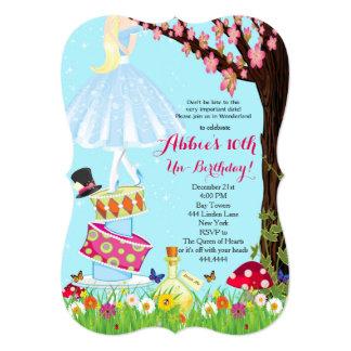 Alice em convites do aniversário do país das