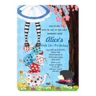 Alice em convites do país das maravilhas