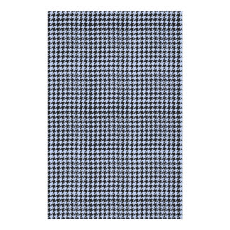 Alice Houndstooth azul no jardim inglês do país Flyer 13.97 X 21.59cm