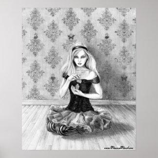 Alice na arte de Alice do poster do país das