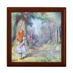Alice na caixa de jóia do Trinket do presente do Porta Trecos