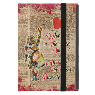 Alice na capa de ipad de Vinatge das citações do