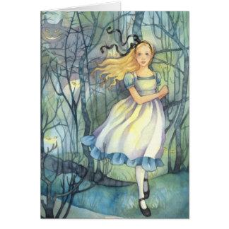 Alice na madeira de Tulgey - cartão do país das