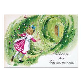Alice no aniversário do país das maravilhas não convite 12.7 x 17.78cm