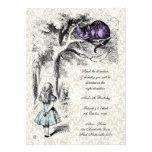 Alice no aniversário louco do tea party dos Hatter Convites