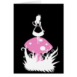 Alice no cartão da obscuridade do país das